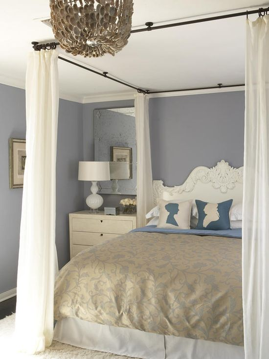Romantic style bedroom.