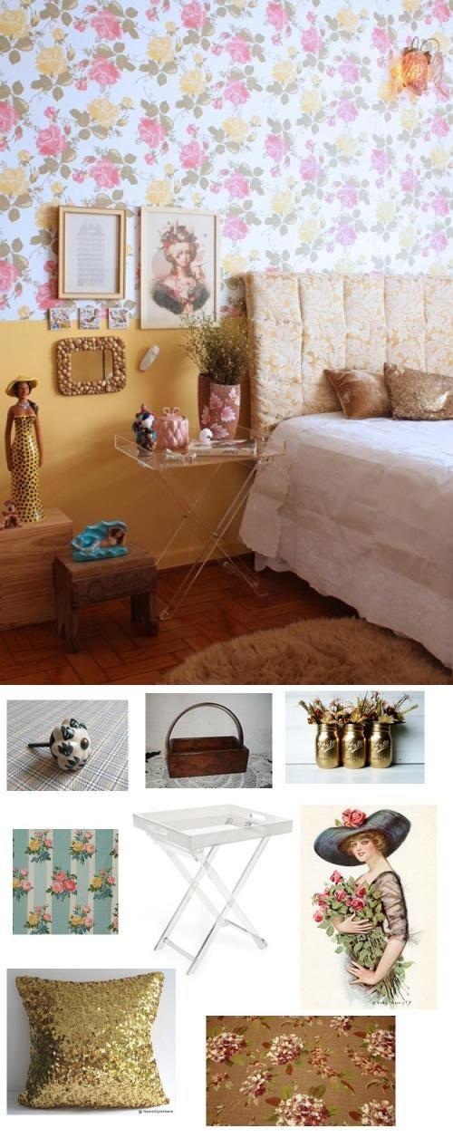 #vintage #florals #decor #design #bedroom