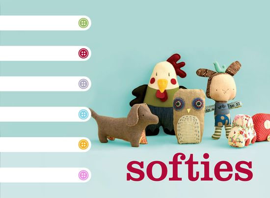$$$ Softies - Soft Toy Patterns from Penguin Books Australia