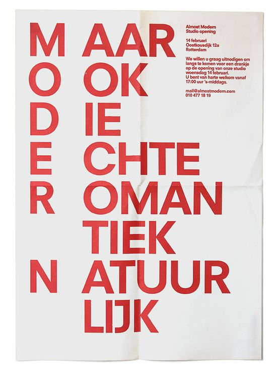 from the Dutch Graphic Design studio Almost Modern  www.almostmodern.com