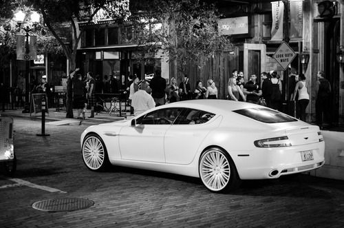 White Aston Martin Rapide...why choose b/t a sports car or a luxury car when u can have the best of both worlds in one!
