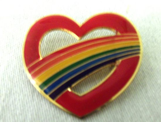 80s rainbow pin