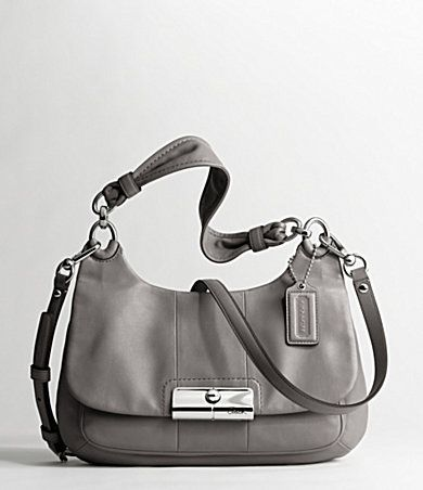 Coach Kristin Leather Hippie: Also available in black and pine. #Handbag #Cross_Body #Coach