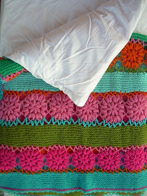 I love the combination of knit and crochet