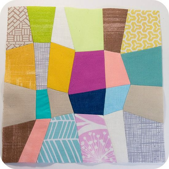 Mini Quadrilateral Quilt - finished block by TinyApartmentCrafts, via Flickr