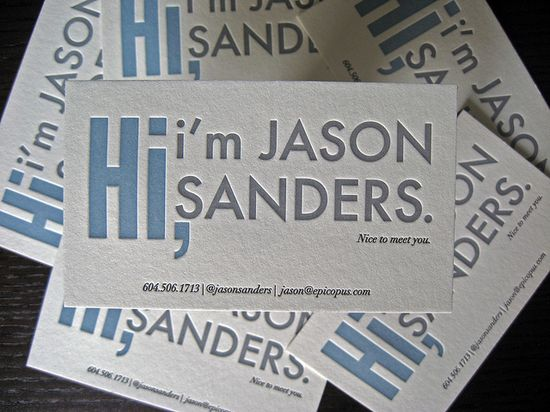 Fun business cards