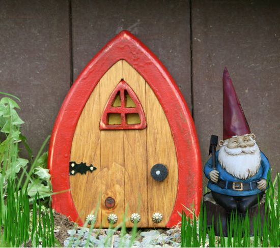 Doors for Your #Garden Gnomes From HGTV's Design Happens Blog (blog.hgtv.com/...)