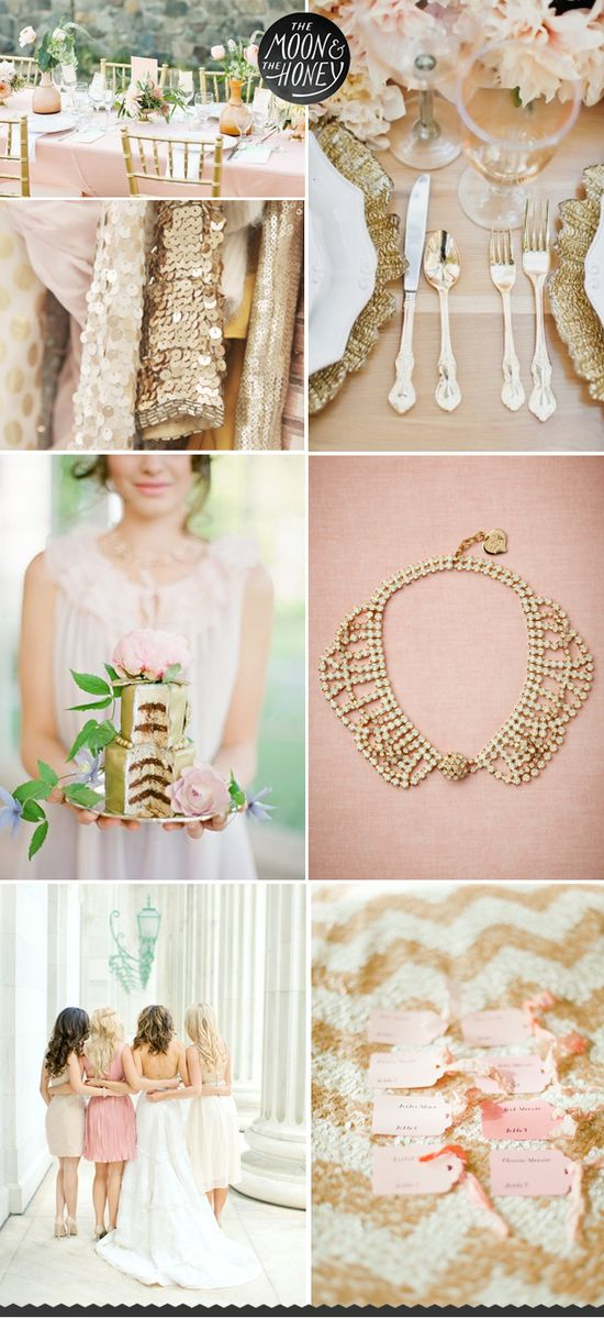 Blush, Pink & Gold Wedding Inspiration   #gold wedding reception ... Wedding ideas for brides, grooms, parents & planners ... itunes.apple.com/... … plus how to organise an entire wedding ? The Gold Wedding Planner iPhone App ?