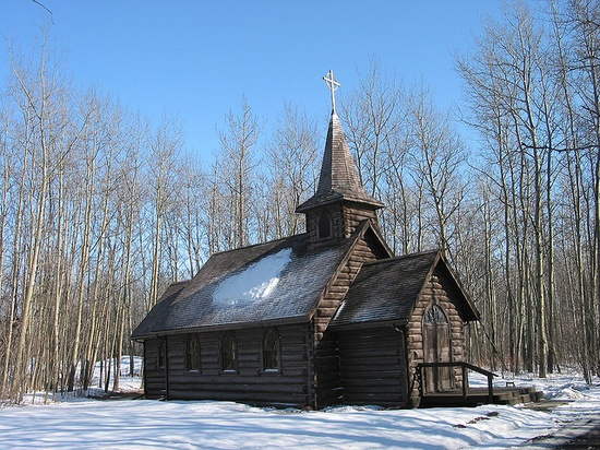 Small Country Church    A small country church near Ft. St. John British Columbia, Canada.