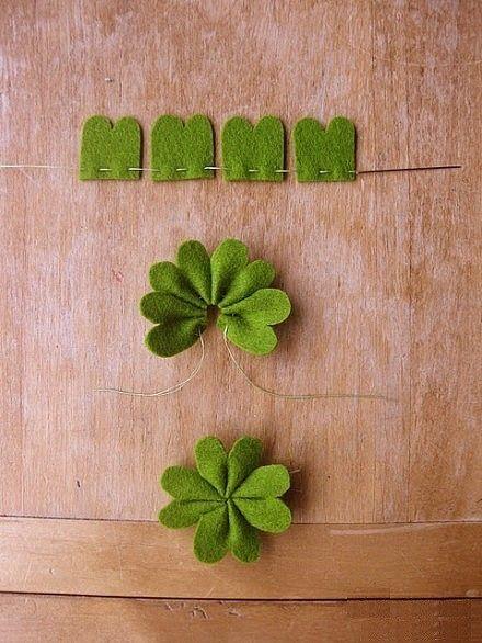 mini four leaf clover DIY fabric
