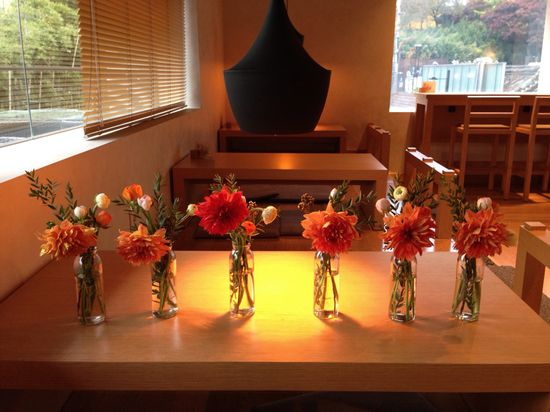 flower arrangements by Jessica's Dinner Party.