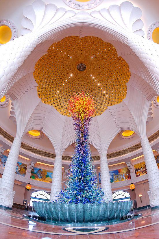 Lobby of The Atlantis, Dubai.
