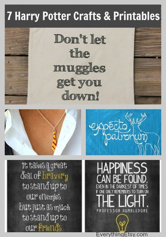 7 Harry Potter Craft Ideas & Printables - EverythingEtsy.com #diy #potter