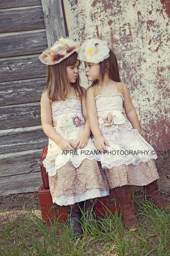 such cute flowergirl dresses country boots