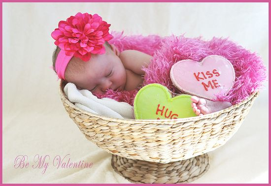 Valentine newborn photo.  Maybe my baby girl will come 2 weeks early so I can do this!