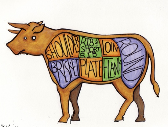 Parts of the Cow