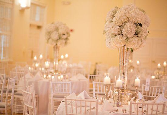 Tall Centerpieces Wedding Reception