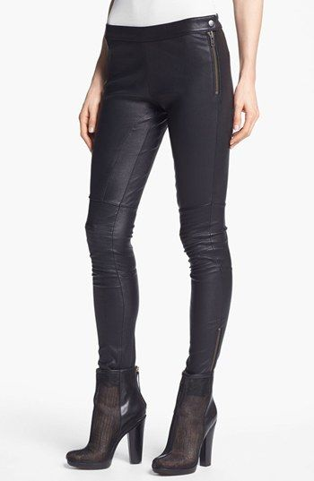 Rachel Zoe 'Maxine' Skinny Stretch Leather Pants