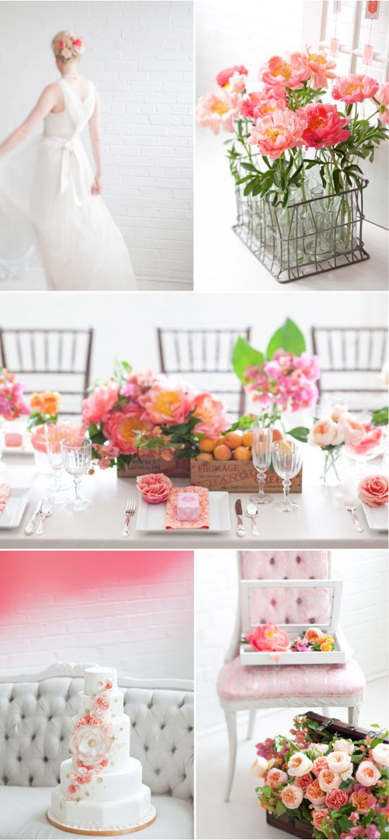 pretty in pink wedding: pink and white summer wedding