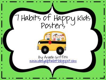 7 habits posters for kids