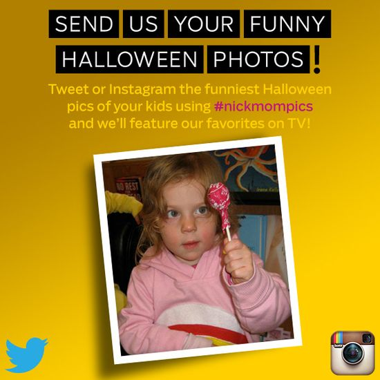 Send us your funny Halloween photos of your kids using #nickmompics on Twitter and Instagram