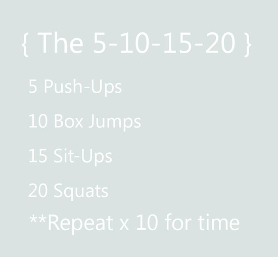 5-10-15-20 workout: Crossfit inspired