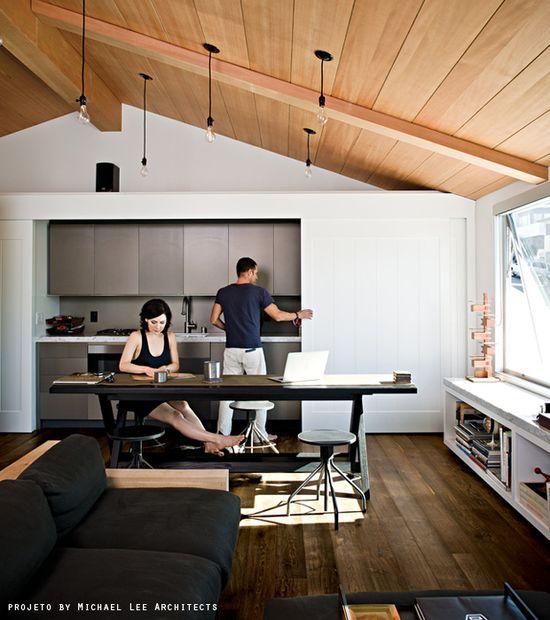hidden kitchens #decor #kitchen #cozinha #ambienteintegrado