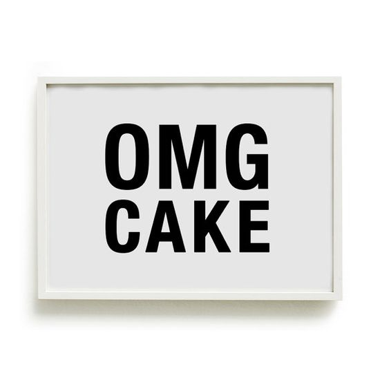 A4 Typography Poster baking print kitchen by blackandtypeshop, $15.00