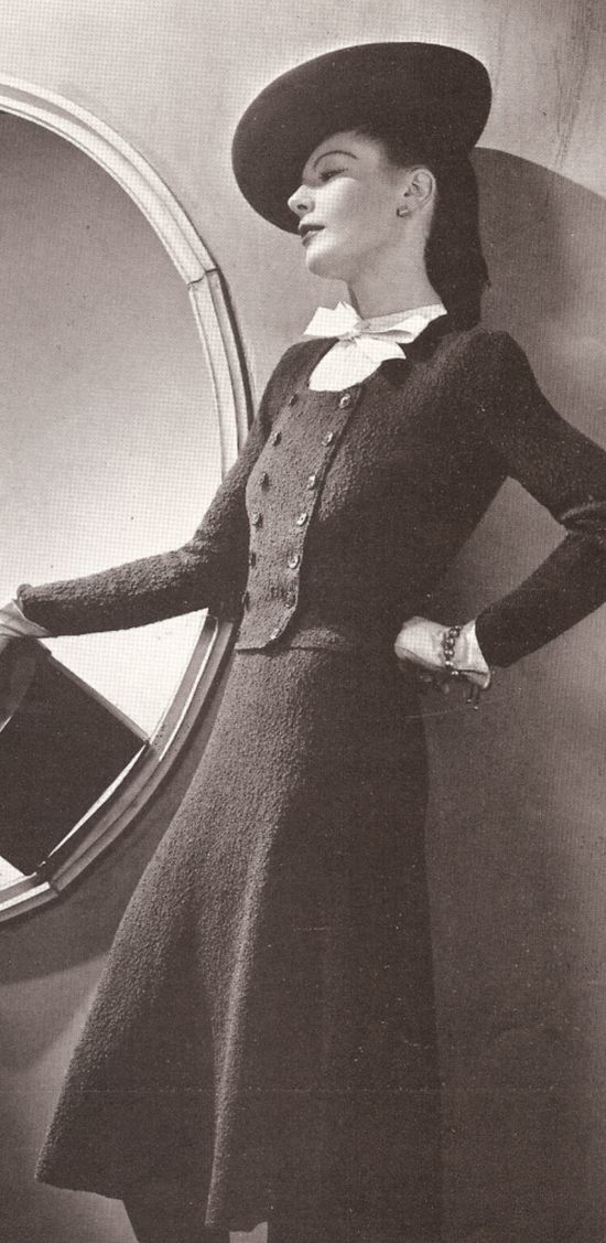 Vintage 1930's Knitted Vogue Dress Suit Pattern