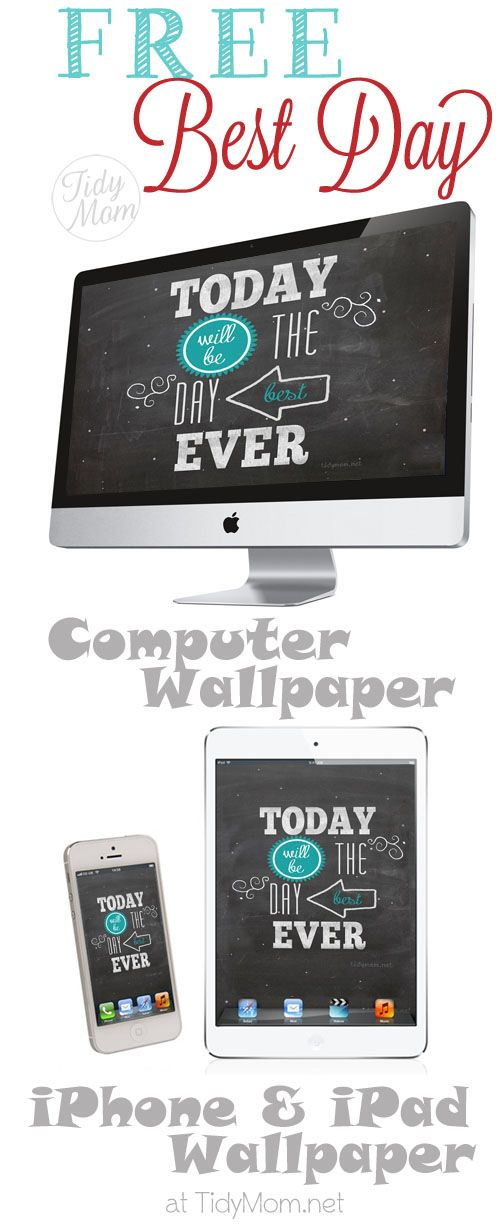 Free Best Day Ever Chalkboard Wallpaper for Computer, iPhone & iPad
