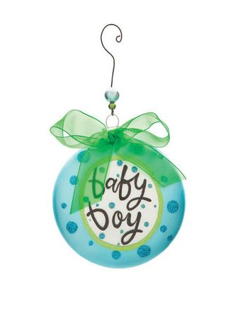 Lisa Frost for Silvestri Baby Boy Christmas Ornament www.specialtykids...