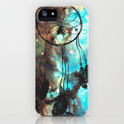 Dreamcatcher (blue) iPhone Case by Christinarashel - $35.00