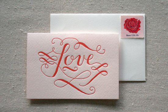 Love Letterpress Card.