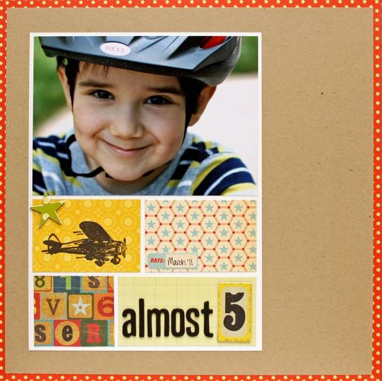 Almost 5 #scrapbook #layout #simple #cute