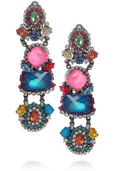 Erickson Beamon Modern Mughal Earrings: A glorious cacophony of color!