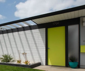 Eichler house with wonderful yellow door