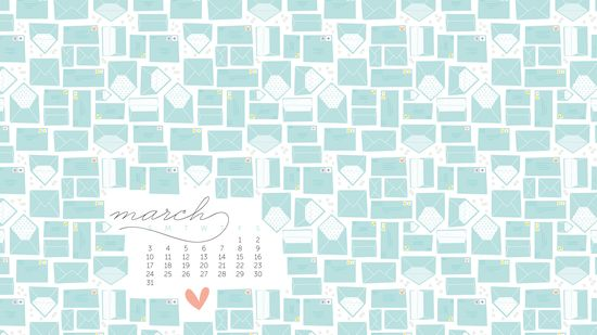 Darling!  :-)  March Calendar Desktop by Alma Loveland for Nicole's Classes