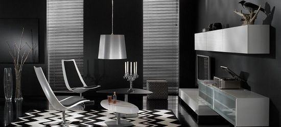 Use black to create a dramatic and beautiful space