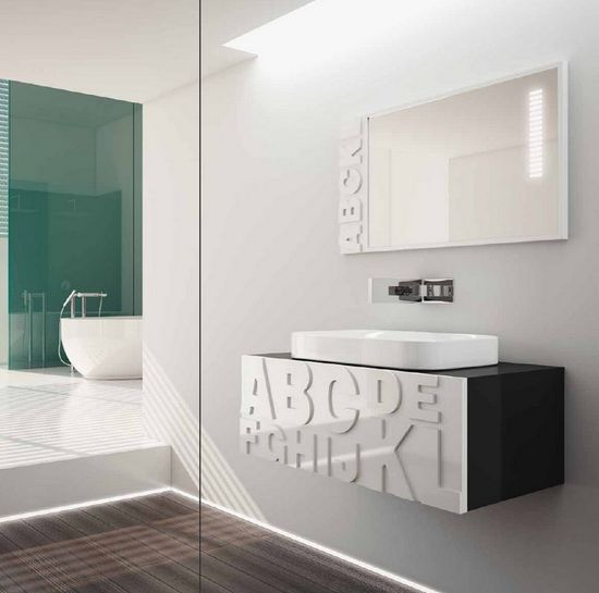 ... letter bathroom design