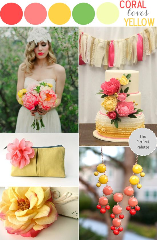 Coral Loves Yellow! www.theperfectpal...