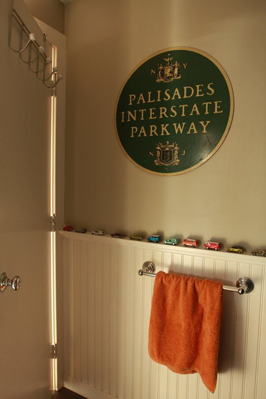 Darling bathroom idea! Michelle, Rob & Kaia's True Antique