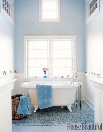 Blue-on-Blue Bathroom