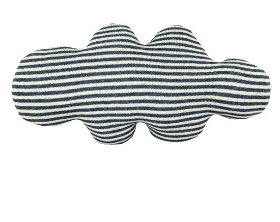 CLOUD shaped pillow - white and blue or grey stripes. $68.00, via Etsy.