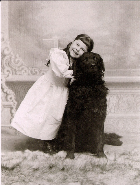 Such a heartwarmingly sweet vintage image of a youngster and her loyal, loving dog. #child #girl #dog #pets #vintage #portrait #cute