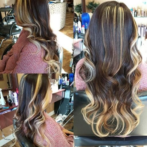Highlights color & haircut