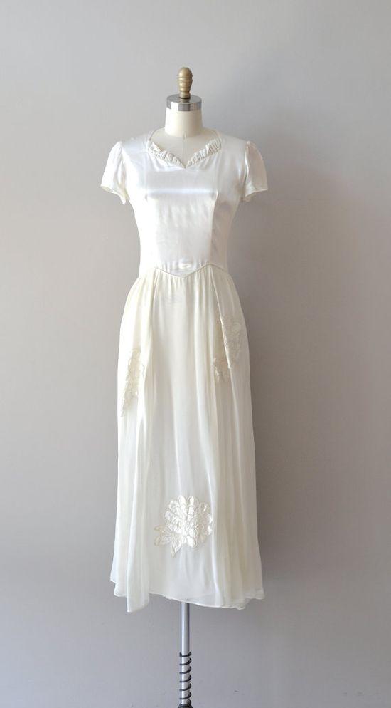 40s wedding dress / vintage 1940s wedding dress / Ara Pacis dress