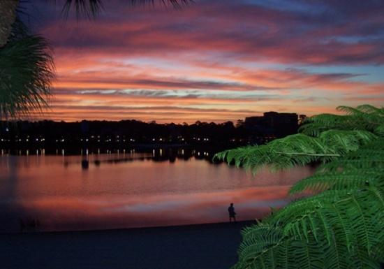 Sunset at Caribbean Beach Resort.