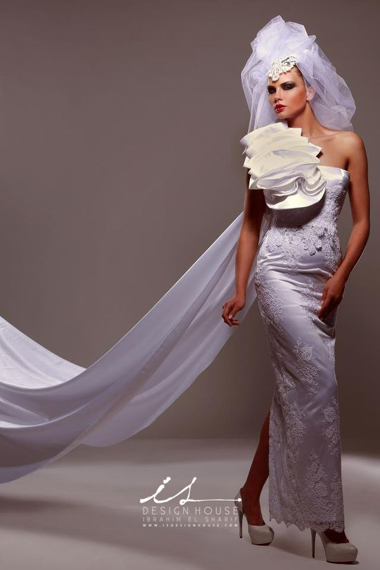 Innovative wedding dresses by IS Design House signed by the designer Ibrahim El Sharif