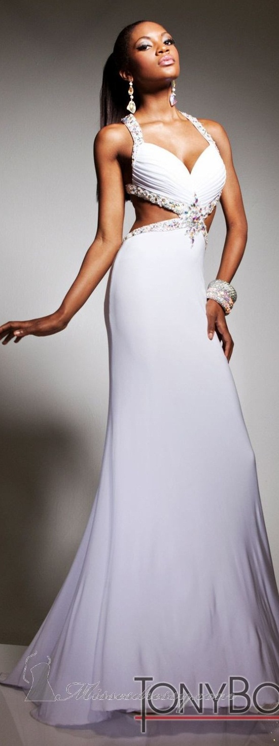 Would you wear this sexy dress for your wedding day? Tony Bowls couture ~