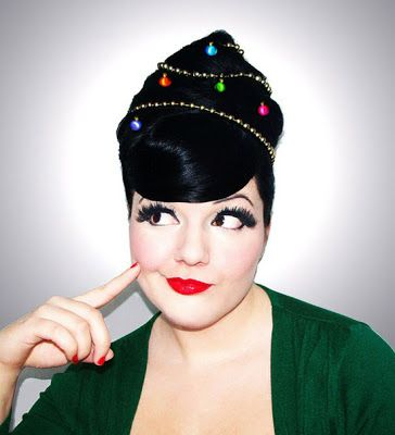 Cute with a little retro flare - if you dare Girls Hairstyles for Christmas 2013